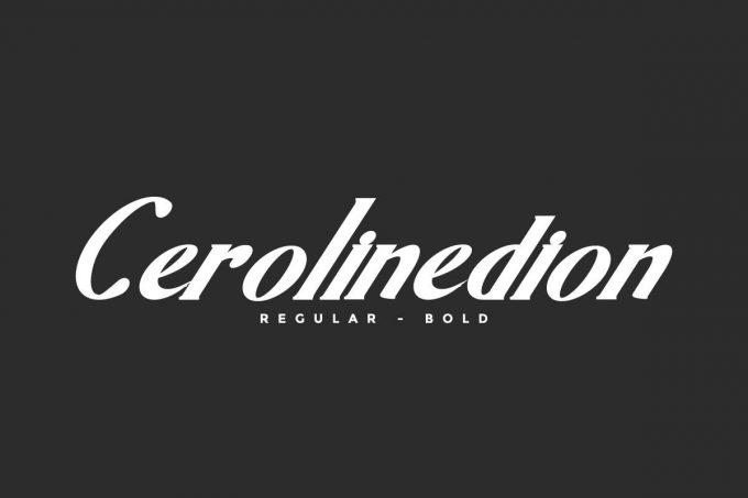 Cerolinedion Font